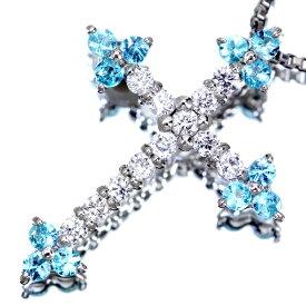 PT900 0.08ct ブラジル産パライバトルマリン ネックレス 0.07ct ダイヤモンド