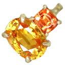 【1ctUP!】K18 ゴールデンサファイア 1.11ct オレンジサファイア 0.25ct ペンダントトップ