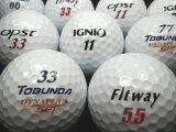 【送料無料】FITWAY・TOBUNDA・IGNIO・OPST4種混合ホワイト30P【ロストボール】【ゴルフボール】【あす楽対応_近畿】【中古】
