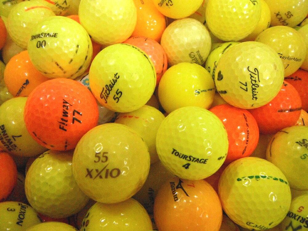 訳ありNo,12-1カラーボール混合100P【ロストボール】【ゴルフボール】【あす楽対応_近畿】【中古】