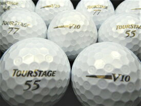 【送料無料】 BRIDGESTON GOLF ツアーステージ V10 12年モデル パールホワイト 20P 【ロストボール】【ゴルフボール】 【あす楽対応_近畿】【中古】