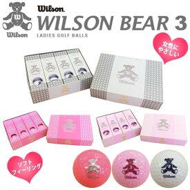 【新品】【正規品】【送料無料】WILSON ウイルソンBEAR 3各色1ダース(12球)