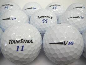 送料無料 ツアーステージ V10 12年モデル ホワイト 20P ロストボール ゴルフボール 【あす楽対応_近畿】【中古】
