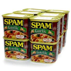 スパムガーリック 340g×12缶セット 新栄商店 スパムポーク 沖縄 スパムおにぎり 防災備蓄用 全国送料無料