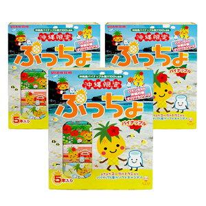 ぷっちょパイナップル5本入り×3箱セット