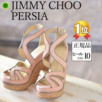 JIMMY CHOO 133PERSIA 波斯麻底 帆布鞋 凉鞋 楔子拖鞋 吊带凉鞋 / 8cm/9cm/ 浅咖色 / 粉红色 / 不痛的 /不容易疲劳 正规品 吊带 皮革 鞋  新款