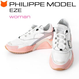 フィリップモデル レディース スニーカー PHILIPPE MODEL EZE WOMAN レザー 白 本革 エゼ ホワイト グレー ピンク イタリア製 人気 ブランド 厚底 おしゃれ 正規品 25cm 大きいサイズ 軽い