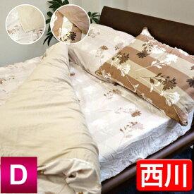 【最安値に挑戦!】京都西川綿サテンベッドシーツ(STN-L-63D)ダブル/D/やわらか綿サテンカバーシリーズ/ベッド用ボックスシーツ