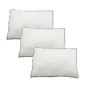 Goosely グースリー 枕 3個セット 羽毛のような ふんわり いびき防止 快眠 横向き 低反発 洗える まくら ストレートネック 高さ調整 固め 高い 調整シート 通気性 43×63cm