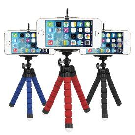 2個セット 三脚 スマホスタンド おまけ付き カメラスタンド 可動式 カラフル くねくね スマホ スマートフォン iPhone アンドロイド エクスペリア カメラ youtube ユーチューブ インスタ ツイッター 実況 中継 送料無料