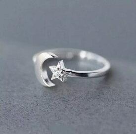 ファッションリング 指輪 スター ムーン 星 月 シルバー