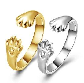 指輪 リング フリーサイズ 猫耳 シルバー ゴールド 猫 ネコ ねこ にゃんこ レディース カジュアル 結婚式 パーティ イベント ギフト プレゼント インスタ映え 送料無料