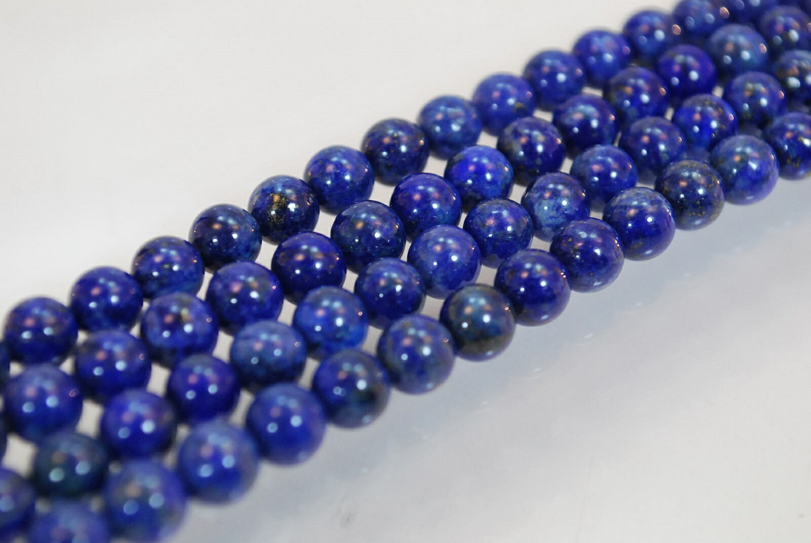 天然石 ラピス 8mm 40cm ネックレス ブレスレット用 ゴムひも 付き  532P15May16   ポイント5倍