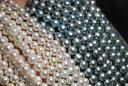 新ロット入荷 アコヤ 真珠 4 − 9 mm ネックレス ホワイト ピンク ブラック ゴールド 選択可 材料も可