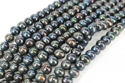 淡水 真珠 6mm  ポテト ネックレス 40cm ピーコック   532P15May16   ポイント5倍