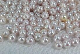 あこや 真珠 6.5− 8mm セミ ホワイト ピンク ナチュラルカラー グレー 材料