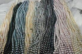 新ロット入荷 アコヤ 真珠 4 − 9 mm ネックレス ホワイト ピンク ブラック  選択可 材料も可   3000円 4,5,6,7,8mm ラウンド、セミホワイト 入荷 532P15May16  ポイント5倍