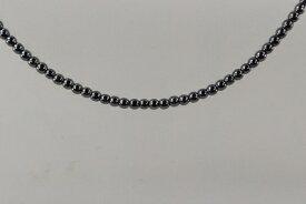 天然石  ヘマタイト 2mm ネックレス ブラック  ラウンド    532P15May16   ポイント5倍