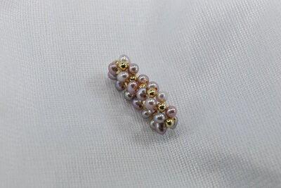 淡水 真珠 3連 ゴム編み込みリング タイプ1 ゴールドカラー  、 淡水 パープルカラー   532P15May16   ポイント5倍