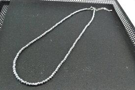 天然石  ヘマタイト 3mm ネックレス シルバー ラウンドカット    532P15May16   ポイント5倍