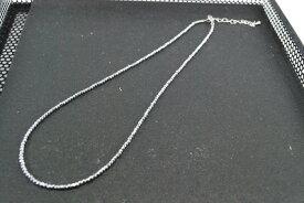 天然石  ヘマタイト 2mm ネックレス ロジウム ピンクゴールド イエローゴールド カラー選択 ラウンドカット    532P15May16   ポイント5倍