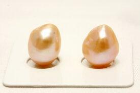 淡水真珠パールペアルース 13×10mm オレンジカラー