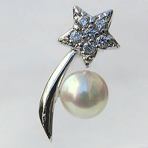 パール ブローチ パールブローチ フォーマル ブローチ パール 真珠 流星 あこや本真珠 5mm ピンブローチ ラペルピン タイニーピン プラチナ pt900 メンズ 男性用 送料無料 人気 おすすめ カジュ