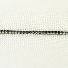 チェーン K18WGホワイトゴールド ライトベネチアン0.8mmチェーン 50cm スライド式