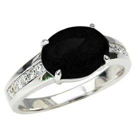 オニキス リング オニキス 指輪 黒瑪瑙 黒メノウ ダイヤモンド 0.17ct ホワイトゴールド K18WG 18金 送料無料 8月誕生石 Onyx 誕生日プレゼント ホワイトデー クリスマスプレゼント カジュアル