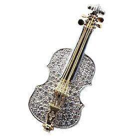 【ポイント10倍!】メンズ 男性用 バイオリンブローチ バイオリンラペルピン ダイヤモンド 楽器 ピンブローチ ピンズ ホワイトゴールド イエローゴールド バイオリン 誕生日 入学祝い 就職祝い 記念日 プレゼント ギフト 4月誕生石 人気 おすすめ