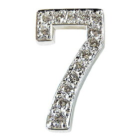 ラッキー7 ラッキーセブン ラペルピン ダイヤモンド 0.30ct ブローチ タイニーピン ピンブローチ ピンズ ナンバー7 ホワイトゴールド 送料無料 お守り クリスマス 誕生日 ホワイトデー 記念日 プレゼント ギフト 4月誕生石