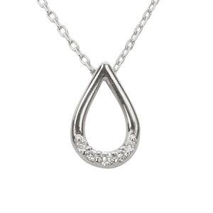 ネックレス ダイヤモンド ホワイトゴールド k10 10k 10金 ネックレス プチネックレス ダイヤ ペンダント 送料無料 ラッピング無料 4月誕生石 プレゼント 誕生日 記念日 アクセサリー ジュエリ
