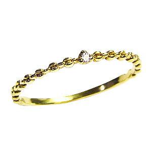ダイヤモンドリング 一粒ダイヤ 0.01ct 指輪 イエローゴールド K10 ダイヤモンド【RCP】