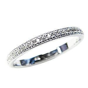 フルエタニティーリング ダイヤモンド ピンキーリング ホワイトゴールド 結婚指輪 K18 送料無料 アクセサリー ジュエリー 人気 おすすめ カジュアル トレンド プレゼント ギフト