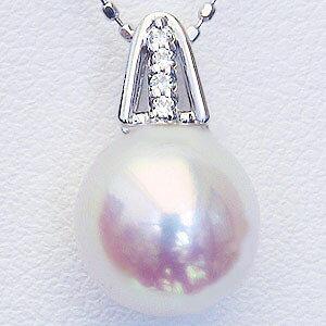真珠パール 6月誕生石 ペンダントトップ あこや本真珠 直径8.5mm ダイヤモンド 0.02ct プラチナ PT900 送料無料