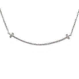スマイル ネックレス プラチナ pt900 ダイヤモンド スマイルネックレス バーネックレス ラインネックレス メンズ シンプル 誕生日 男性 プレゼント 無料ラッピング 普段使い アクセサリー ジュエリー 人気