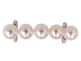真珠 帯留め パール アコヤ本真珠 シルバー SV 和装小物 着物アクセサリー 送料無料
