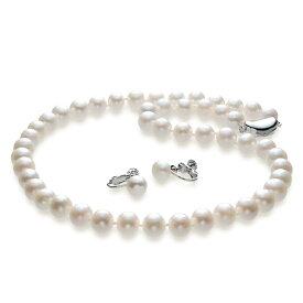 つやたま ゆったり50cmパールネックレス 大粒10mm珠使用 本真珠ネックレス&ピアスorイヤリングセット  (フォーマル 結婚式 卒業入学 冠婚葬祭 七五三)