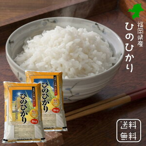 新米・令和2年産【送料無料】<免疫力アップ/玄米・分づき対応可> 福岡県産 ひのひかり 白米 10kg(5kg×2袋) 九州の定番 ヒノヒカリ 10キロ 米 おいしい米 美味しいお米 美味しい米 お米10kg