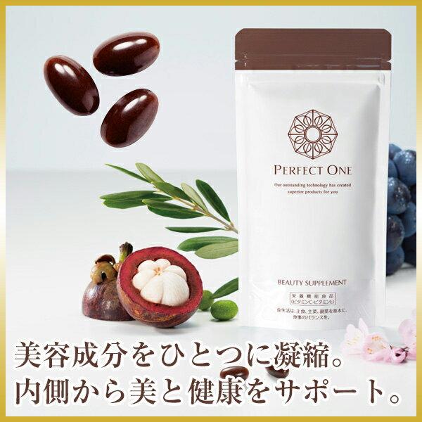 新日本製薬 パーフェクトワン ビューティサプリメント 93粒(約1ヶ月分) 複合型コラーゲン ヒアルロン酸 セラミド プラセンタエキス レスベラトロール オリーブ油 ビタミンC・Eなど インナーケア p1day