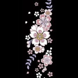 蒔絵シール-舞妓はんの華かんざし 4月(桜) 【ゆうパケット送料無料!※宅配便を選択時は送料がかかります。(ご注文後にこちらで追加します。)】