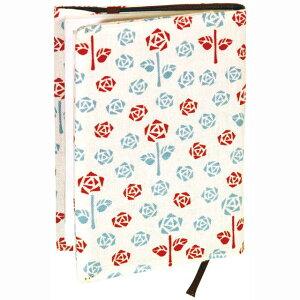 【ブックカバー】『お母さんの薔薇庭』レトロ小紋てぬぐいのブックカバー(文庫本用) 【追跡可能メール便送料無料!】