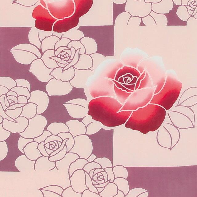 【注染手ぬぐい:和柄】 和布華 わふか『赤い薔薇』【ゆうパケット送料無料!※宅配便を選択時は送料がかかります。(ご注文後にこちらで追加します。)】