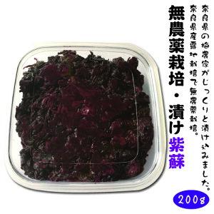 無農薬栽培 漬け紫蘇 200g酸っぱい 辛い しそ!ゆかり おかず 定番 最強 クエン酸たっぷり 塩分補給