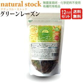 ドライフルーツグリーンレーズン 120g【12袋セット・送料無料】砂糖不使用食品添加物無添加。