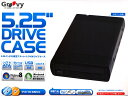 "【Groovy】 5""ドライブケース OPTICAL-CASE525SATA-USB3.0 【5インチ外付ケース】【s】"