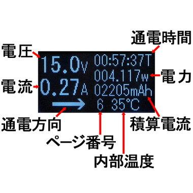 【メール便送料無料】ルートアール双方向・通電方向表示USBType-C電圧・電流チェッカーRT-TC3VABKRoute-R