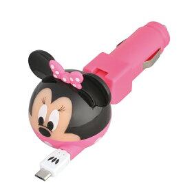【定形外無料】【SEIWA】Disney スマートフォンデジタルチャージャー 【ミニーマウス】 DY18 iPhone・iPod用(Dockコネクタ専用) シガー シガーソケット 【S】