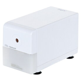 【在庫あり・包装無料】 ナカバヤシ 電動鉛筆削り器 ホワイト DPS-211-W