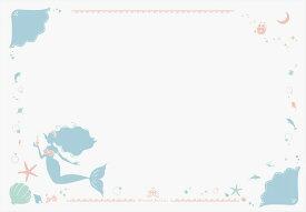 在庫あり・ミワックス プリント学習デスクマット   マーメイド  TM-6545-ME